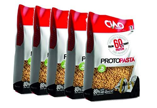 Riso Proteico Pasta Proteica 5 confezioni (5x gr 500) Altissimo Contenuto di Proteine (60%) Ciao Carb