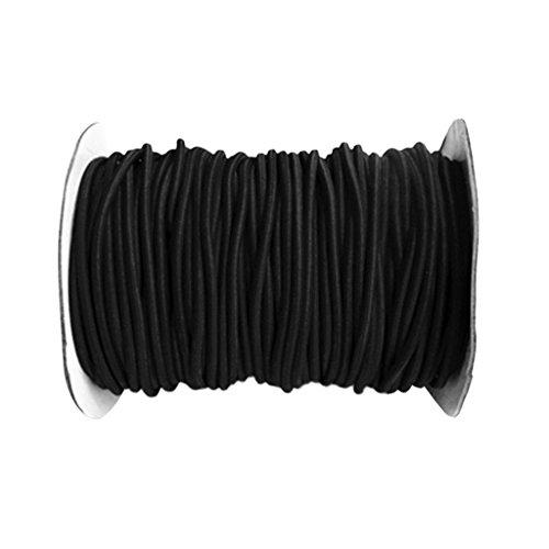 MagiDeal 4mm Diameter Elastic Rope Shock Cord Strech String, Choose from 1, 3, 5 and 10 Meters - Black, 10m