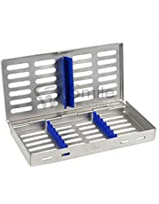 7 instrumentos esterilización autoclave cassette bandeja acero inoxidable CE U.K stock