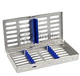 7 instrumentos esterilización autoclave cassette bandeja acero inoxidable CE...