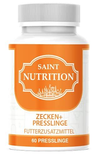 NEU: Saint Nutrition® Anti ZECKEN Presslinge für Hunde und Katzen– natürliche Behandlung für Ihr Haustier mit Sofortwirkung – Schutz hochwirksam
