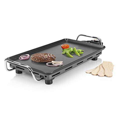 Princess 102300 Plancha Table Chef Pro, alta calidad, resultados profesionales, 2000 W, Negro