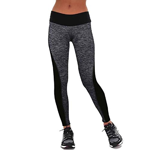 YWLINK Damen Sporthose Sportlich Fitnesstraining Tanzhosen Fitness Yoga Leggings Hosen Turnhose(S,Grau)