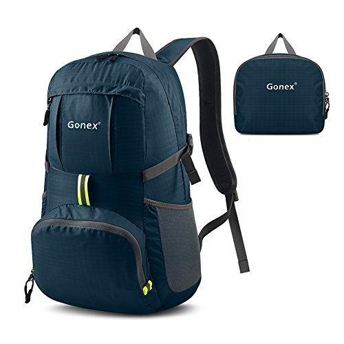 Gonex 35L Ultra Lightweight Packable Backpack Handy Foldable Waterproof Small Shoulder Bag Daypack For Sport Camping Hiking Cycling Travel