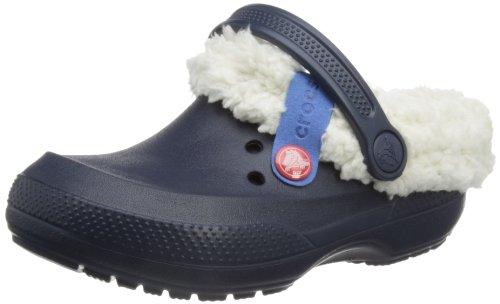 Crocs Blitzen II Clog Kids, Unisex - Kinder Clogs, Blau (Navy/Oatmeal), 24/26 EU