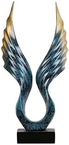 JJDSN Trofeo de premios, estatuilla de alas abstractas, guila, Resina, Adorno de Escritorio, decoracin para el hogar, decoracin para estantes, Oficina, hogar, Mesa de TV