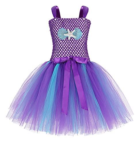 AmzBarley Sirena Vestidos Princesa Niña Fiesta de Tul Tutu con Encaje de...