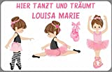 Kilala Türschild Namensschild Ballett Ballarina Kinderzimmer Alternative zu Holzbuchstaben Geschenk...