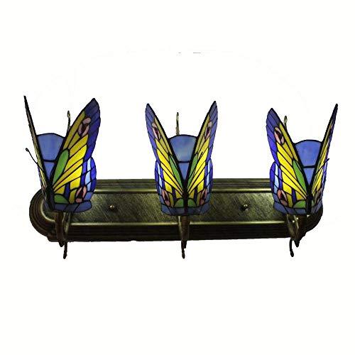 Tiffany Glass Butterfly Club Corridor Applique murale alliage Bronze Bras Chambre bedsides Escaliers Case Applique murale Villa balcon couloir Véranda Appliques Tiffany I