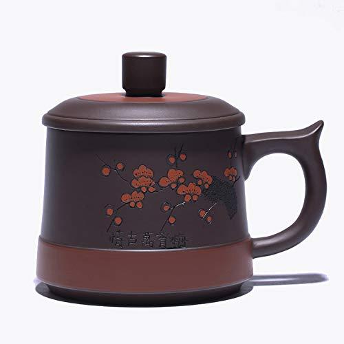 Lila Teekanne Tassen Tassen Hause Tee-Set Teekanne Kaffee Küche Hause Keramik Geschirr handgemachte Großhandel Tee Geschenk, Wasserkocher