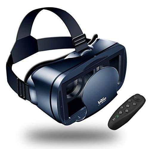 Occhiali VR 3D With Telecomando Compatibile Occhiali VR con tutti gli Smartphone come Galaxy, Android, Huawei, da 5,0 a 7,0 Pollici(Nero)