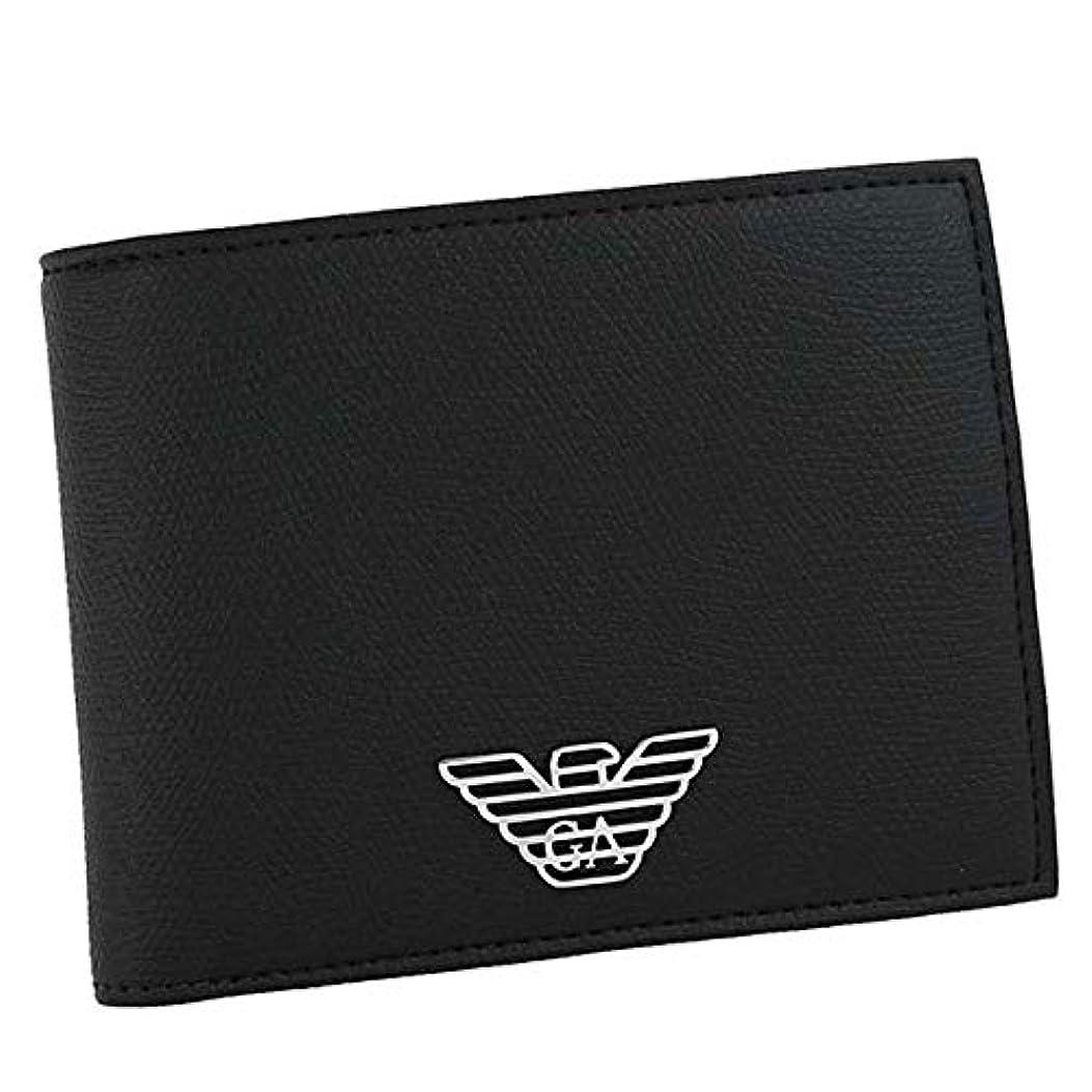 ポータブル敬な出席する[エンポリオ アルマーニ] EMPORIO ARMANI 二つ折り財布 ブラック イーグルロゴ Y4R165 YLA0E 81072 [並行輸入品]