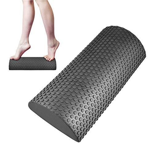 Yoassi - Rodillo de espuma para yoga, con punta flotante, media ronda de espuma para pantorrillas, ejercicio de pie, pilates y cuello para hornear