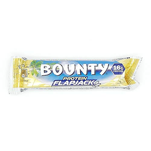 Bounty Protein Flapjack 60g, High carbohydrates Content, Extra Energy dose, Pack of 12