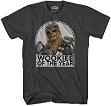 STAR WARS Chewbacca Wookiee of The Year Chewie The Last Jedi Movie Porgs Funny Humor Pun Adult Men's Graphic Tee T-Shirt Apparel (X-Large, Charcoal Heather)
