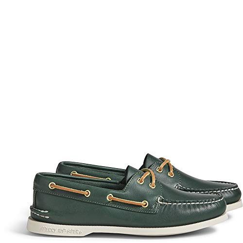 Sperry Womens AO 2-Eye Boat Flats Casual - Green - Size 10.5 M