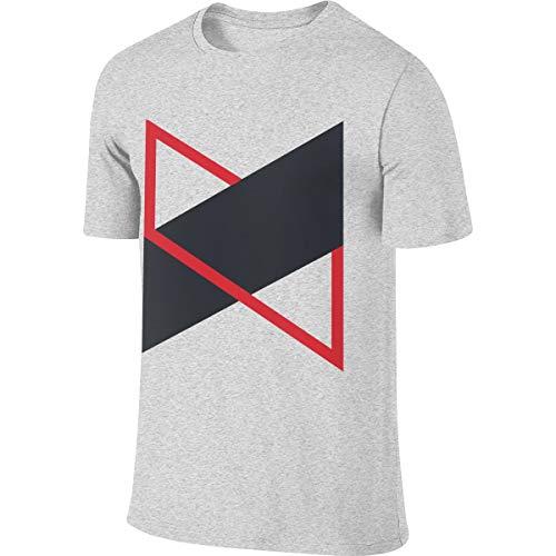 Men's MarquesBrownlee Fashion T-Shirt Custom Clothing L Gray