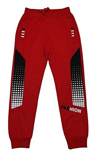 Fashion Boy Jungen Jogginghose Freizeithose in Rot, Gr. 122, J6285.8