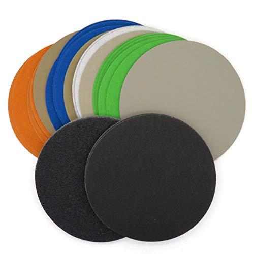 FDKKK 10 STÜCKE 6 Zoll 150 MM Wasserdichtes Schleifpapier Klettschleifscheiben Siliziumkarbid 60 bis 10000 Körnungen zum Polieren und Schleifen