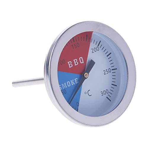 Siwetg Thermometer voor barbecue, 300 graden, voor buiten en kamperen, met temperatuurweergave