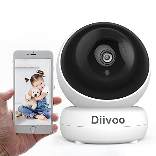 WiFi Pet Security Camera with Two Way Audio,1080P Night Vision, Pan Tilt Zoom, Smart Motion Detection, Cloud and Local…