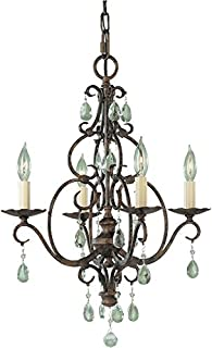 feiss 4 light chandelier