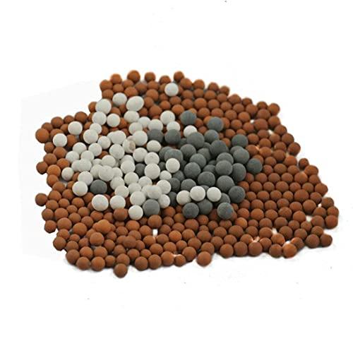 Bolas de minerales minerales Filtro de agua Piedras de recambio Para bolas de ducha de mano de iones negativos de mineral negativo, Piedra bioactiva de repuesto para ducha de mano con filtro i
