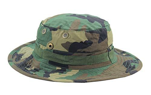 """Mil Issue 1968 3"""" Brim Vietnam Rip-Stop Woodland Camo Gen Ii Erdl Boonie Hat"""