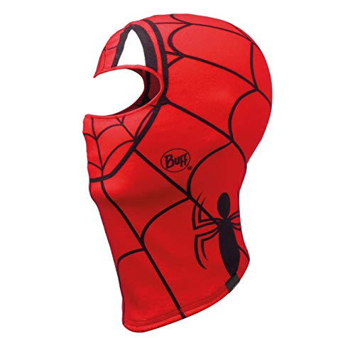 Buff Spidermask bivakmuts fleece, junior, unisex, kinderen, rood, eenheidsmaat