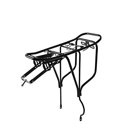 Portabicicletas trasero para asiento trasero, liberación rápida e instalación, soporte trasero para...