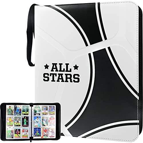 TONESPAC 9-Pocket 900 Kartenordner Kompatibel mit Karten, Aufbewahrungskoffer mit abnehmbaren Blättern Sammelkartenordner für Sammler Sportkarten Baseballkarte für Collection(Football)