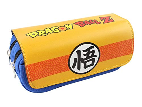 ASLNSONG Japanese Anime Pencil Holder Cosmetic Bag Wallet Pencil Case Stationery Pouch Pen Bag (Dragon Ball)