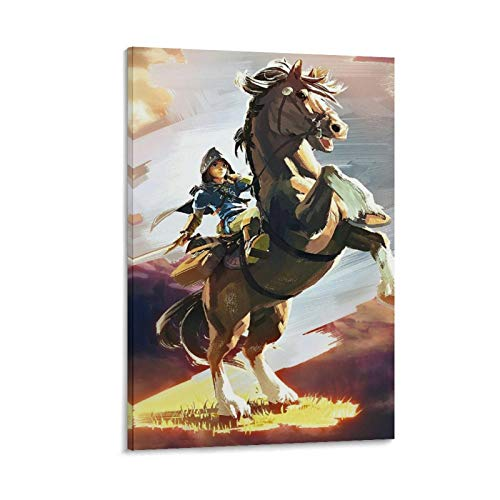 Link The Legend of Zelda Breath of the Wild - Póster decorativo para pared (20 x 30 cm)