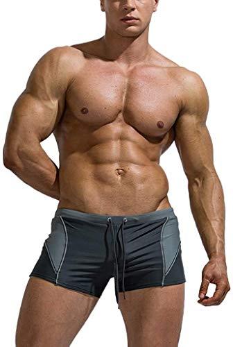 HaiDean 2020 Neujahr Herren Männer In Modernas Vielen Farben Frühling Badehose Schwimmen Bermuda Shorts Beachshort Slim Fit Schwimmhose Boardshort Jungen (Color : Grau-1, One Size : L)