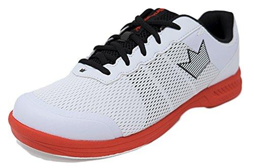 Brunswick Fuze - Zapatos de bolera para hombre, color blanco/rojo, talla, blanco y rojo, 39.5