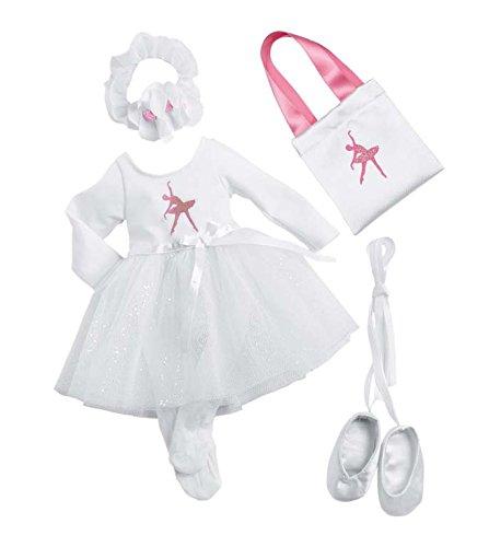 Zapf Creation 908990 - Nelli Dreams Bekleidung Set, Ballerina, weiß