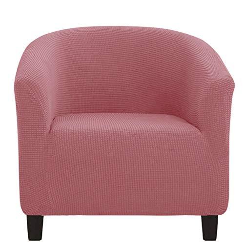 Sesselschoner, Sesselüberwurf Sesselhusse Sesselbezug Jacquard Elastische Stretch Sofahusse Husse für Clubsessel Abwaschbar Möbelschutz für Wohnzimmer-Rosa