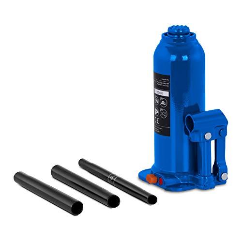 MSW Gato Hidráulico De Botella Elevador Neumático Para Coche MSW-BJ10 (Acero, Capacidad de Carga Máxima: 10.000 kg, Altura de elevación: 145 mm)