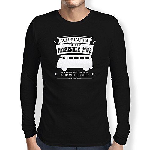 Texlab - Ich bin ein Bulli Fahrender Papa - Langarm T-Shirt, Herren, Größe S, schwarz