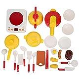 Atyhao Juguete de Cocina, 25pcs/Set Juego de Cocina para niños Juguetes de Cocina Juego de Juguetes de Cocina Mini Juego de Juguetes para cocinar Alimentos Juegos de simulación Juguetes(25 Piezas)