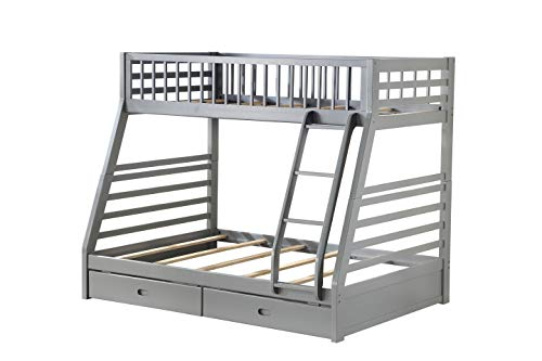 ACME Jason Bunk Bed (Twin/Twin & Storage) - - Gray