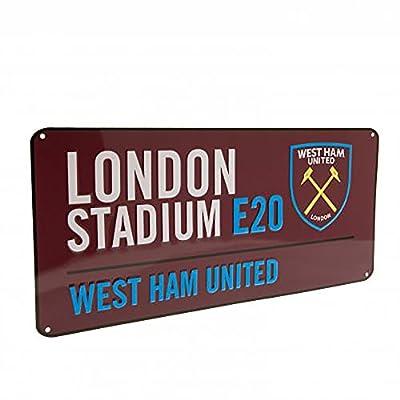 Official Licensed West Ham United F.C - Metal Street Sign (CL)
