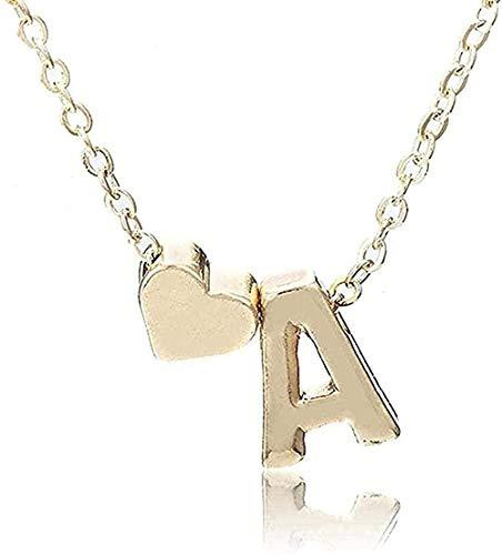 ZPPYMXGZ Co.,ltd Collar de Moda Collar Inicial Personalidad Letra Nombre Collar Colgante de Oro Joyería Regalo Muchos Regalos