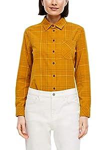 s.Oliver Damen 120.10.009.10.100.2042191 Bluse, Yellow Check, 40