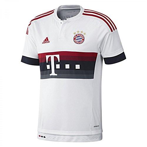 adidas, Maglia a Maniche Corte FC Bayern Bambino, con Frase Mia San mia sulla Schiena, Multicolore (Mehrfarbig), 140 cm