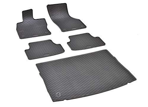 Passende Gummimatten und Kofferraumwanne Set geeignet für VW Golf VII ab 2012 + Gurtschoner