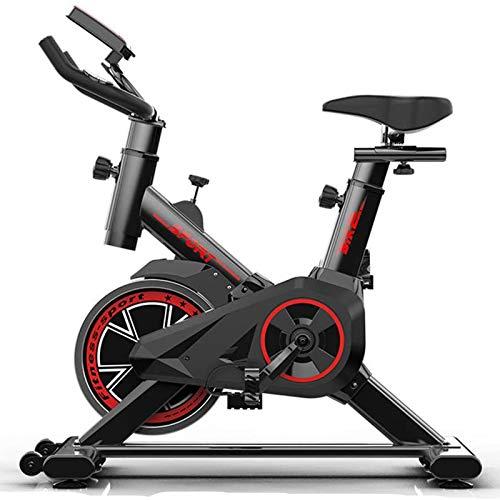 WJFXJQ Ejercicio Bicicleta Interior, con cómodo cojín de Asiento y Pantalla LCD, Unidad de cinturón Suave y silenciosa para el Entrenamiento de Cardio en casa