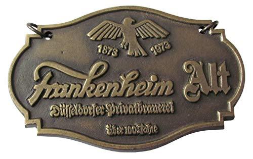 Düsseldorfer Privatbrauerei - Frankenheim Alt - Zapfhahnschild aus Metall (Schwer) 13,5 x 8,5 x 0,7 cm