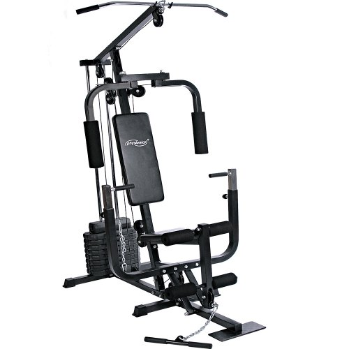 Physionics® Stazione Fitness - Panca con LAT Machine, Chest Press, Curl per Gambe, Macchina...