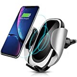 CREUSA Wireless Car Charger Mount, Automatic 10w Qi Fast Charging Car Phone Holder